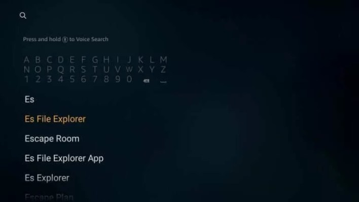 Click Search icon