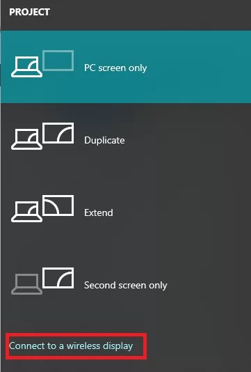 Screen Mirror using Windows