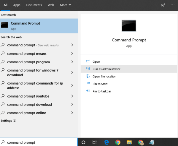 Launch Command Prompt as Administrator - How to Install Android Apps on Windows Phone