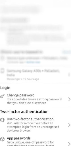 Select Change Password on Facebook