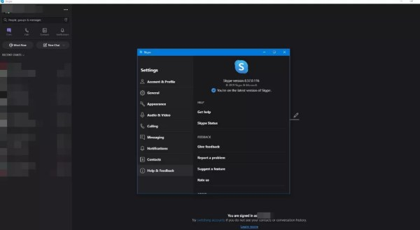 Skype Latest version on Windows