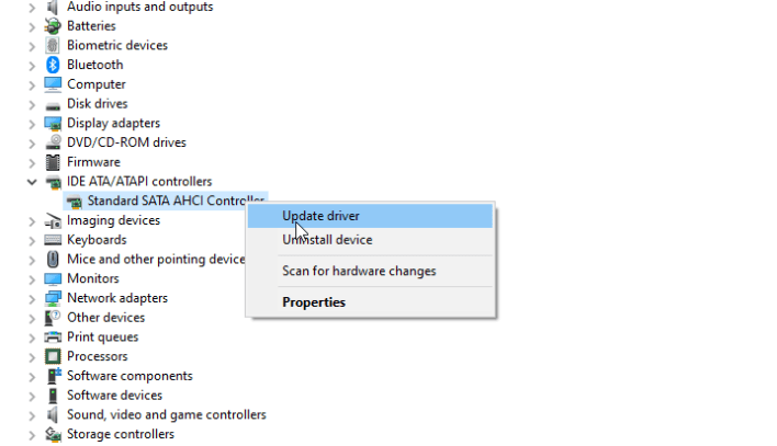 Update Drivers on Windows 10 using Device Manager