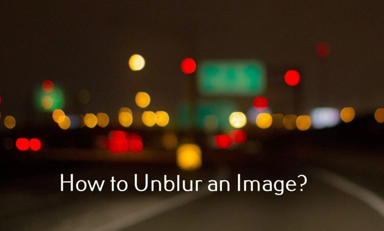 unblur an image