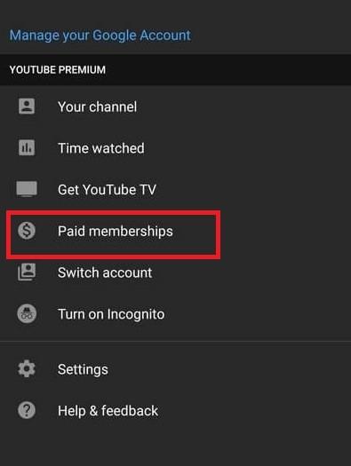select Paid Memberships