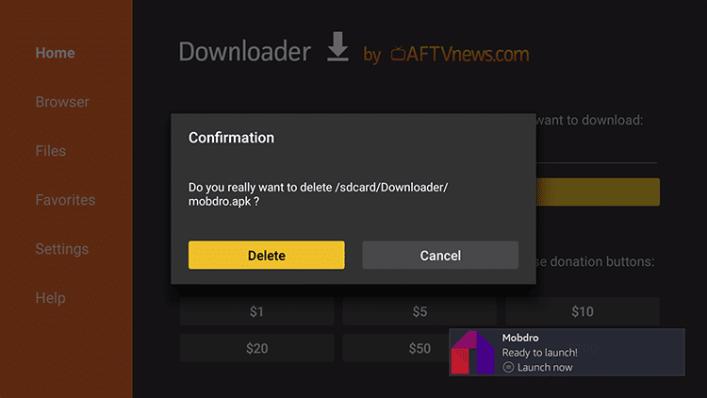 Ezabatu aplikazioa