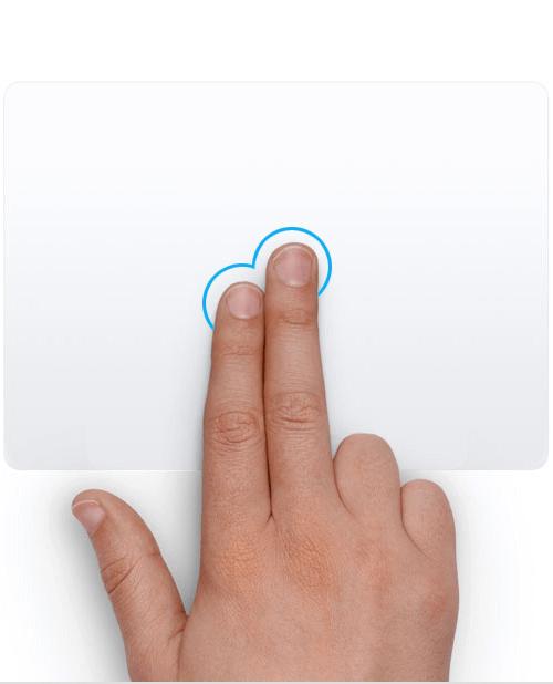 Right Click using Trackpad