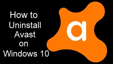 Uninstall Avast Windows 10