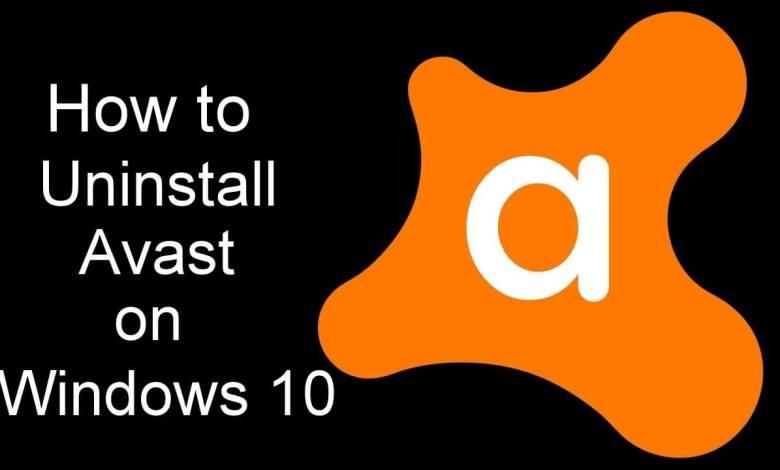 Uninstall Avast Windows 10