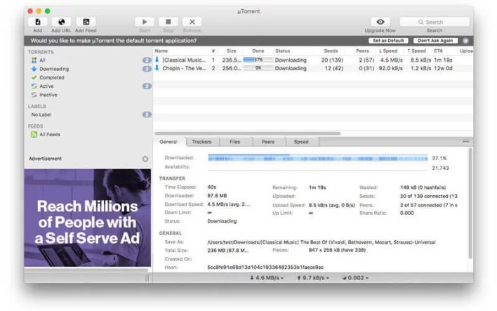 uTorrent - Best Torrent Clients for Mac