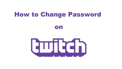 Change password on Twitch