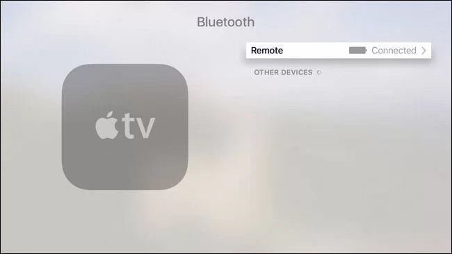 Check Apple TV Remote Battery level
