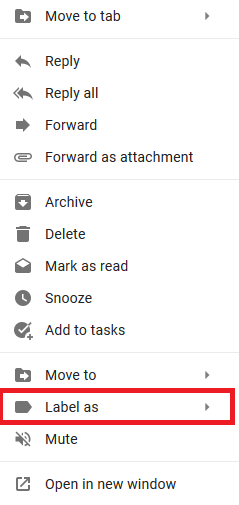 Move Emails to Label on Gmail (Desktop)