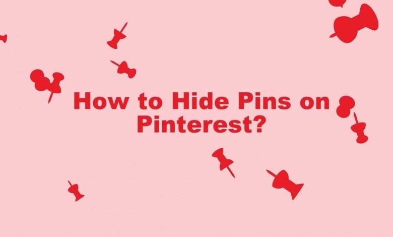 Hide pins on Pinterest