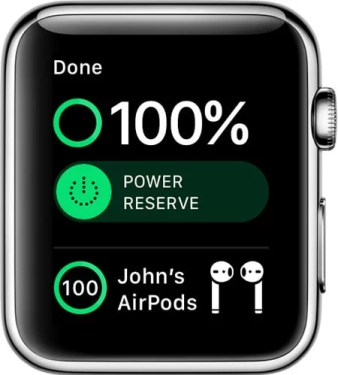 Turn off Power Reserve on Apple Watch