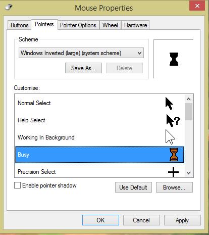 Change Cursor on Windows 10