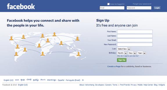 Login to Facebook Account