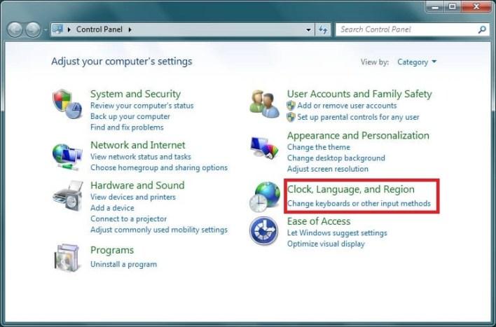 Change Keyboard Language on Windows 7