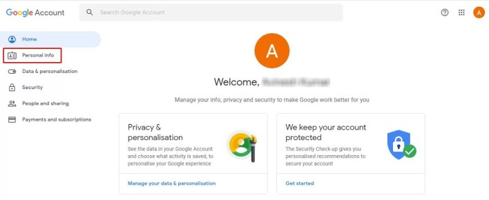 Personal info - How To Change Profile Picture On Gmail