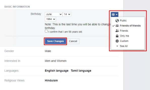 Preference - How To Change Birthday Date On Facebook Profile