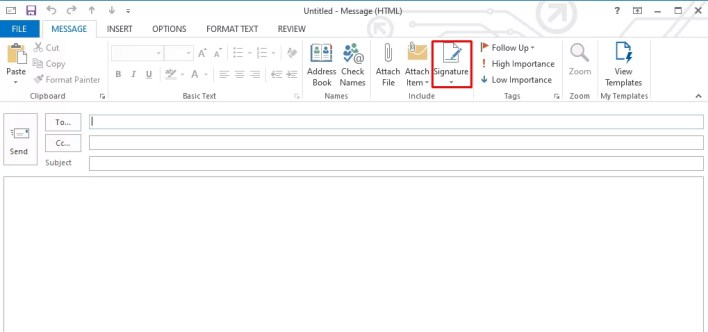 Signature - How To Change Signature On Outlook