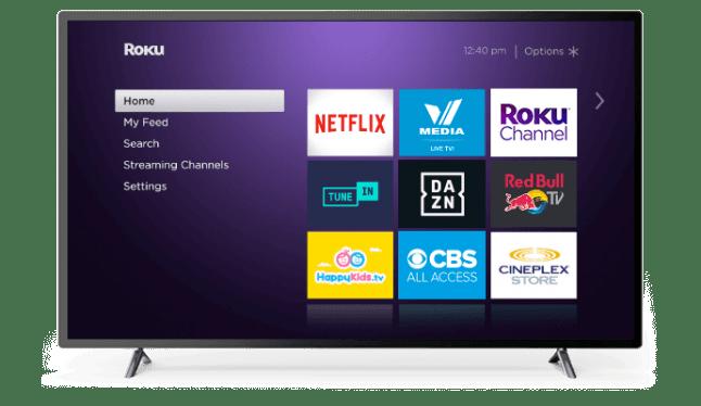 Home screen - reset roku remote