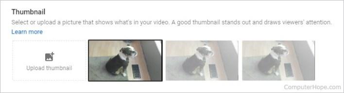 Change YouTube Thumbnail