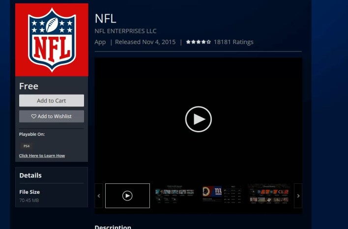 NFL on PS4
