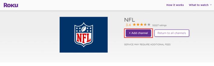 NFL (2020-2021) On Roku