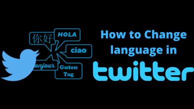 How To Change Twitter Language