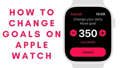 How to Change Activity Goals on Apple Watch