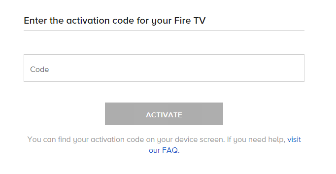 Activate CBS All Access on Firestick