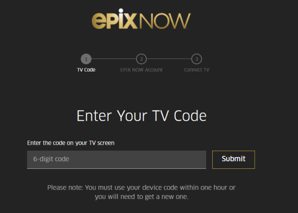 Activate Epix on Apple TV
