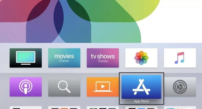 App store on Apple TV
