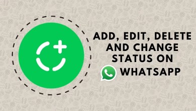 Change status on whatsapp