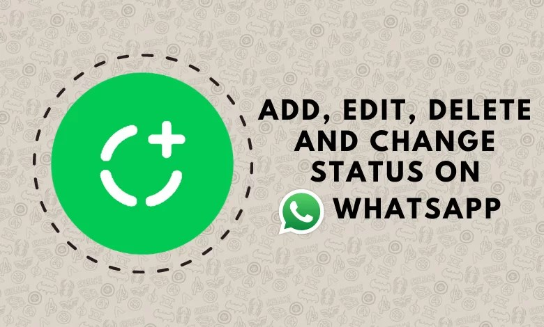 Change status on whatsapp