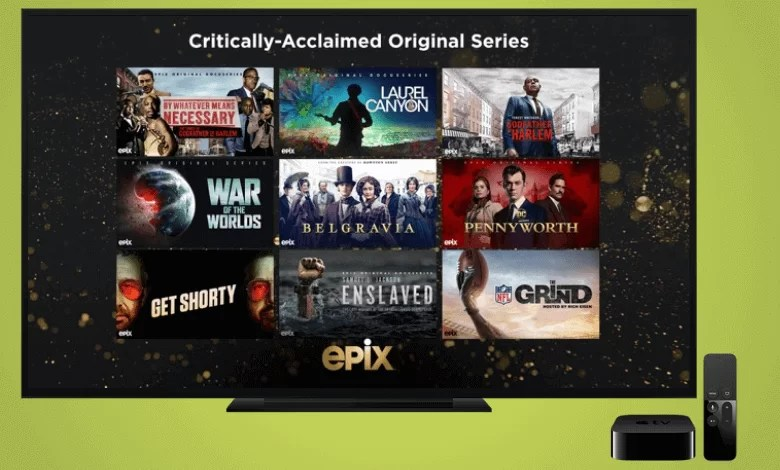Epix on Apple TV