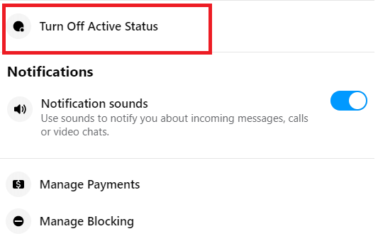 How to Appear Offline on Messenger (web version)