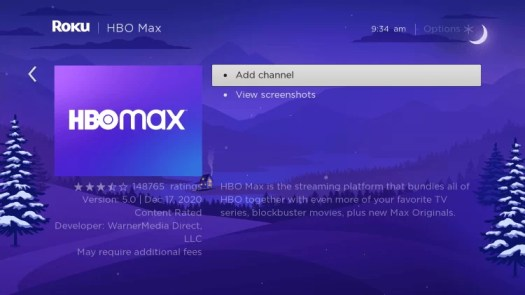 Add HBO Max channel