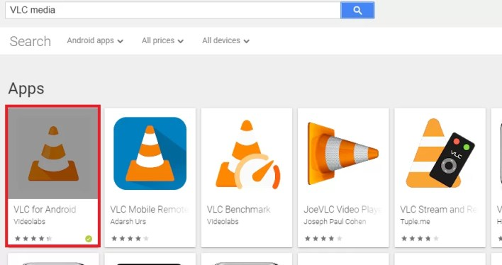 Choose VLC Media Player