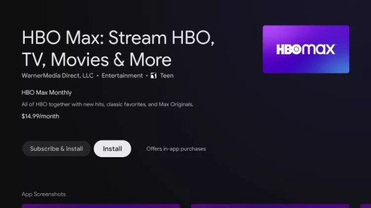 Install HBO Max