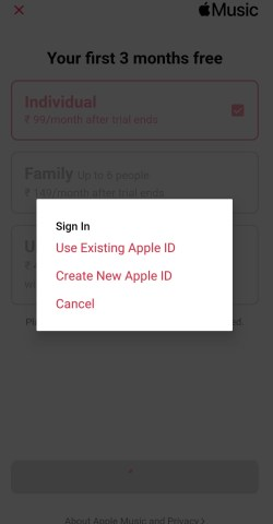 Sign in to Apple Music