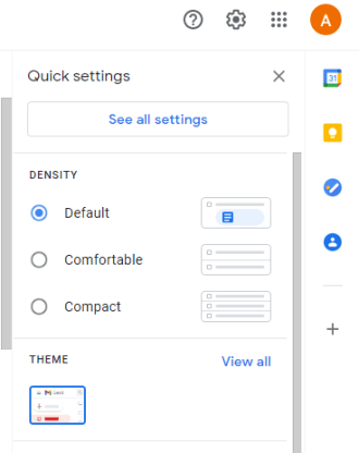 See all settings
