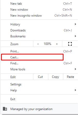 Cast Chrome Browser