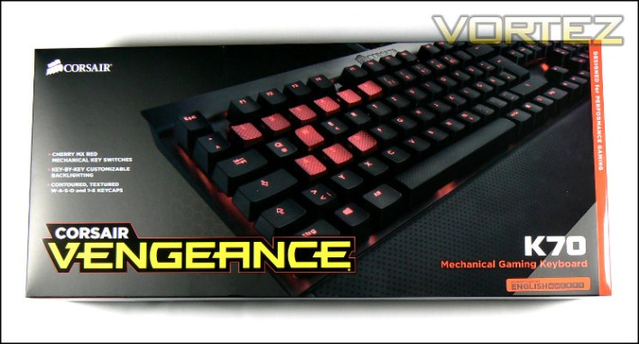corsair vengeance k70 packaging top
