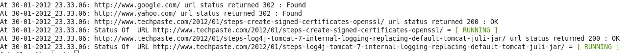 url check script output
