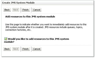 create JMS resources