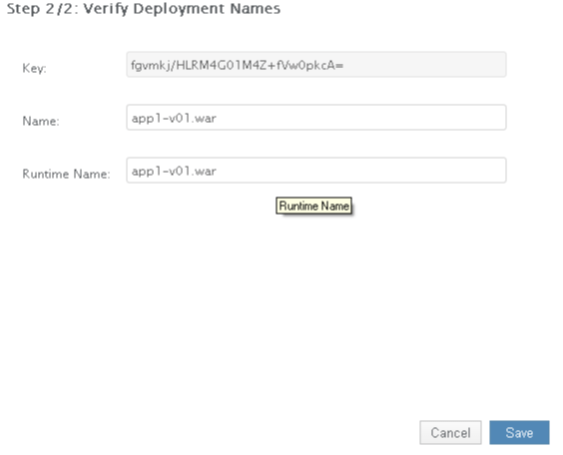 Wildfly Verify Deployment Screen