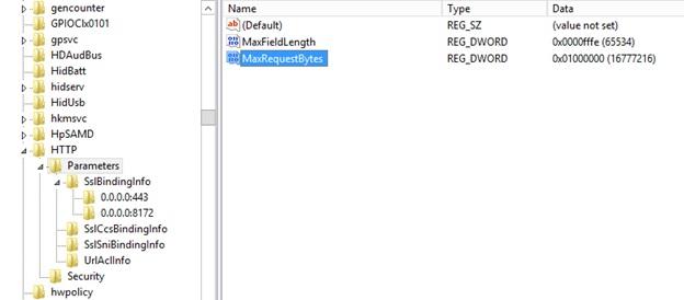 IIS MaxHTTPHeaderSize settings