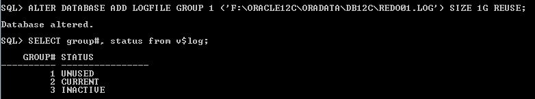 Oracle Redo Log Size Add File