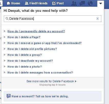 to deactivate facebook account